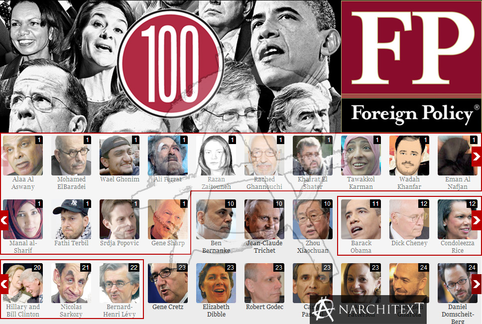 Foreign policy magazine the fp top 100 global thinkers of 2011 foreign policy publicscrutiny Images